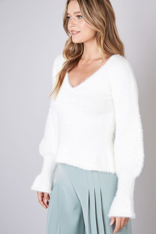 Seek The Label Flare Sleeves Puffy Sweater