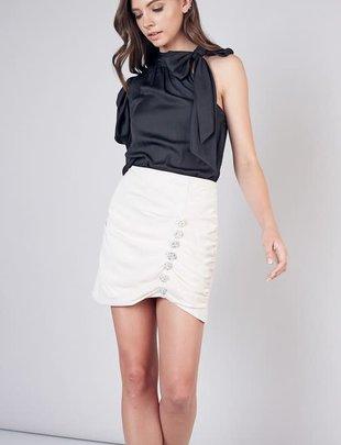 Atikshop Embellished Button Skirt