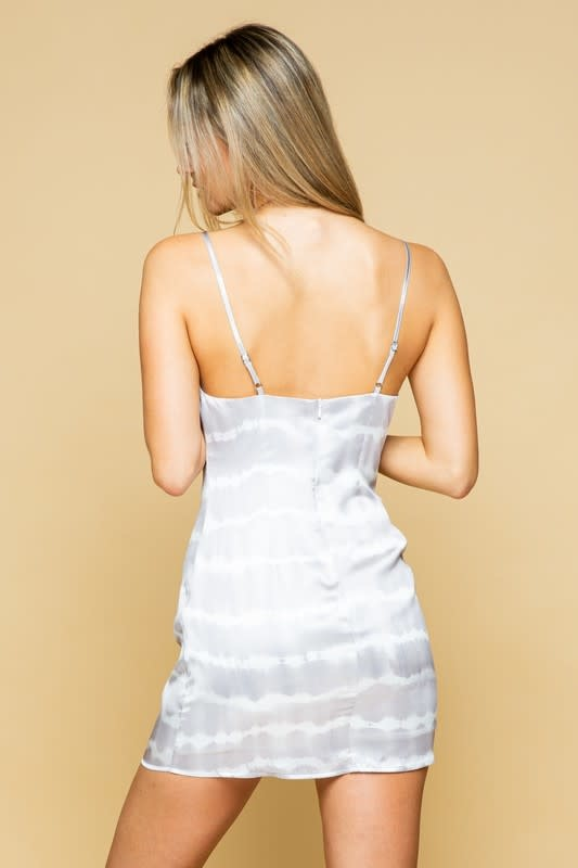 Seek The Label Tye Dye Satin Mini Dress