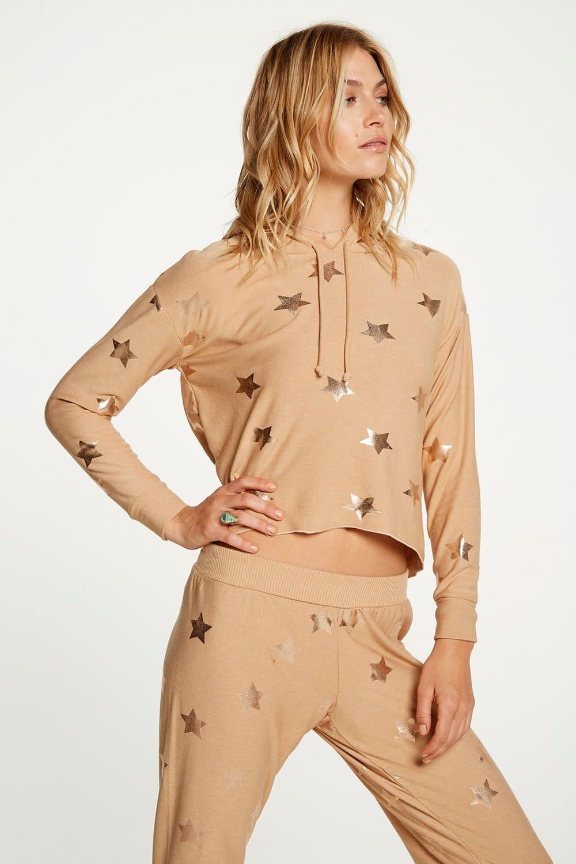 Atikshop Rose Gold Stars Hoodie
