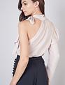 Seek The Label One Shoulder Tie Neck Top