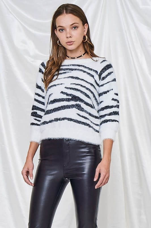 Seek The Label Open Back fuzzy sweater