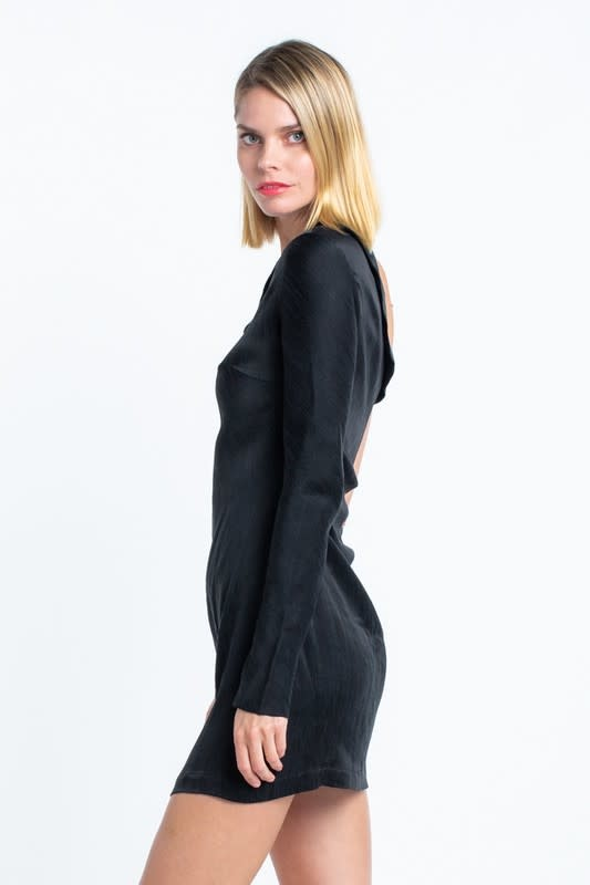 Atikshop Satin One Shoulder Mini Dress