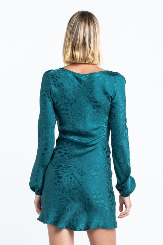 Atikshop Cheetah print Satin Mini Dress