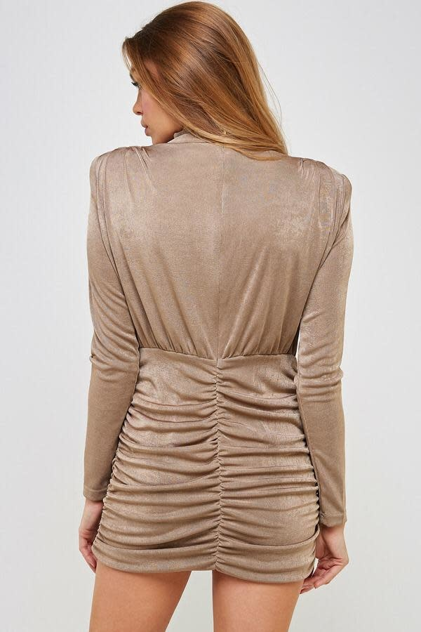 Seek The Label Mockneck L/s Mini Dress
