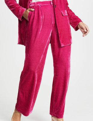 Atikshop Velvet High Waist Trousers