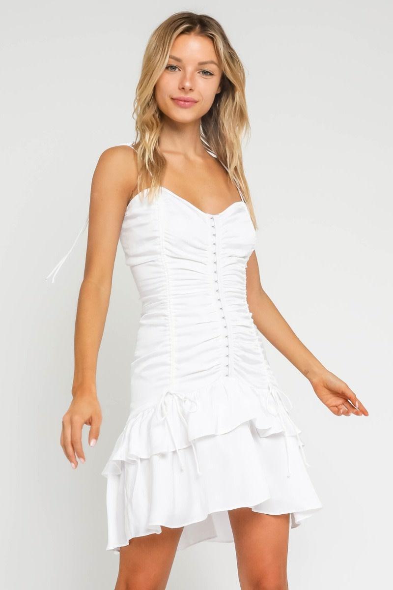 Atikshop Zoe Ruched MIni Dress