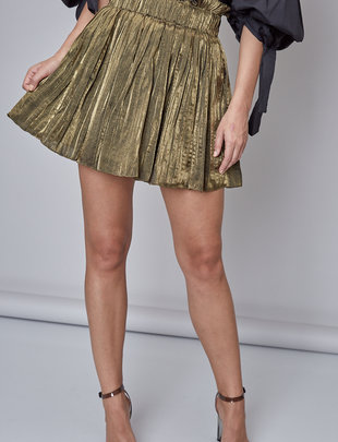 Atikshop Ray Pleated Mini Skirt