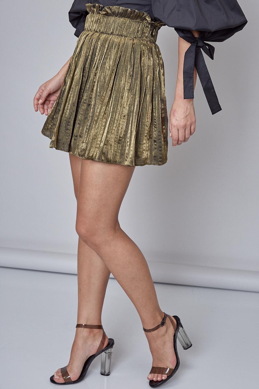 Atikshop Ray Pleated Mini Skirt