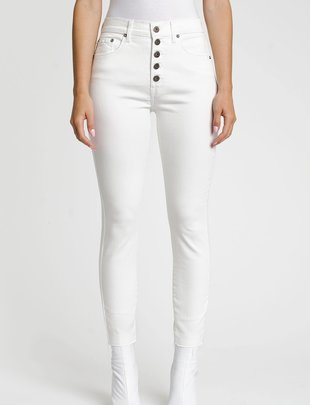 Atikshop Aline Expossed Button High Rise Skinny