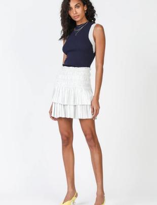 Seek The Label Pleated Tiered Mini Skirt