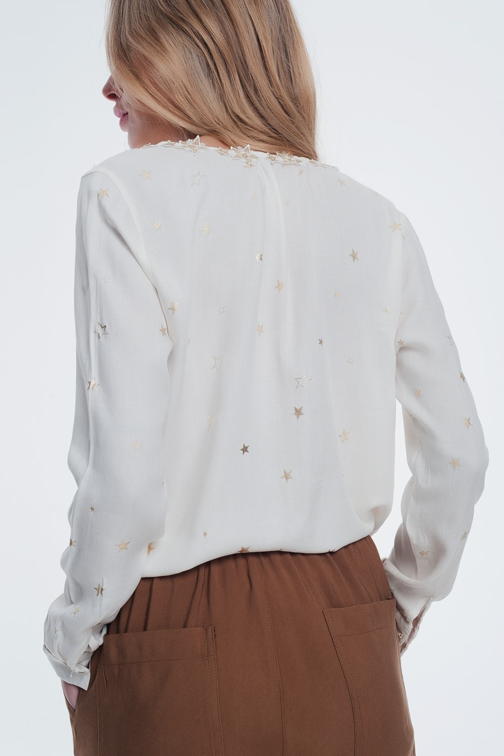 Seek The Label Stars Embroidered Blouse