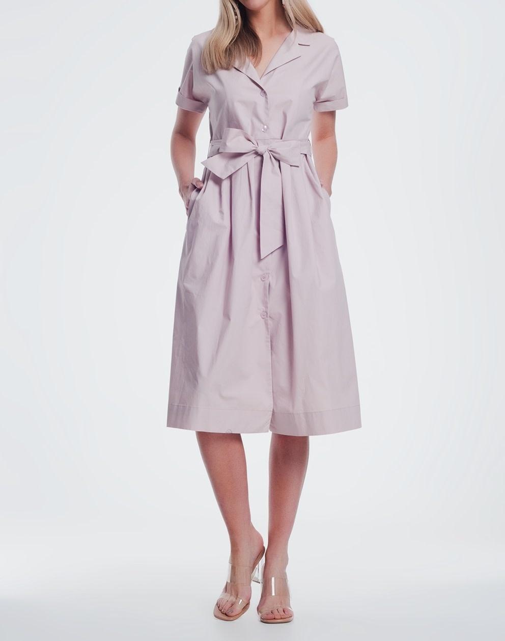 Seek The Label Shirt Midi Dress W/Belt