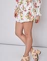 Atikshop Floral Smocked Mini Skirt