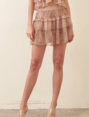 Atikshop Jasmin Lace Ruffle Skirt