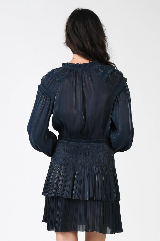 Atikshop Shimmer Pleated Ruffle Dress