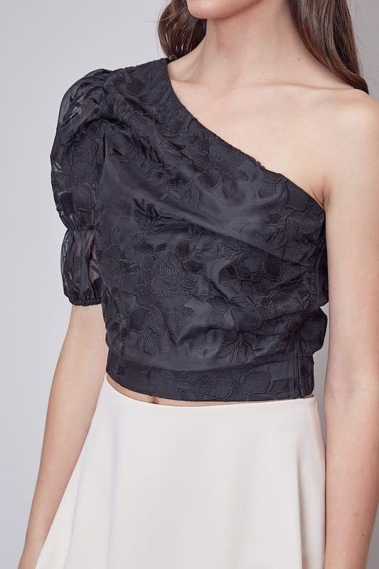 Atikshop Embroidered One Shoulder Top