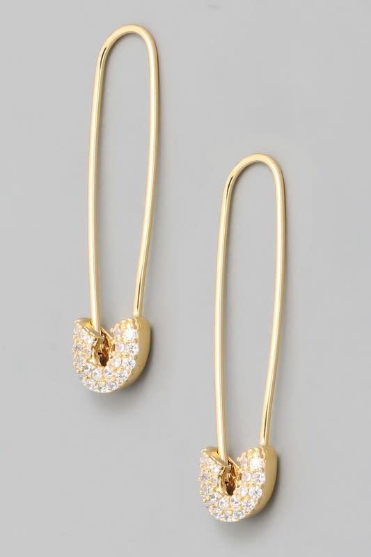 Atikshop Safety Pin Earrings