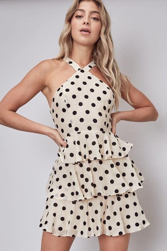 Atikshop Polkadot Halter Mini Dress