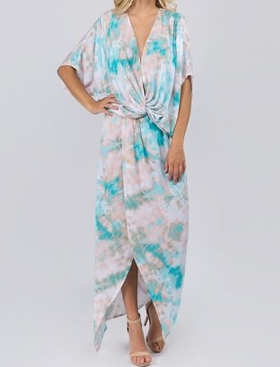 Seek The Label Tye Dye Draped Maxi