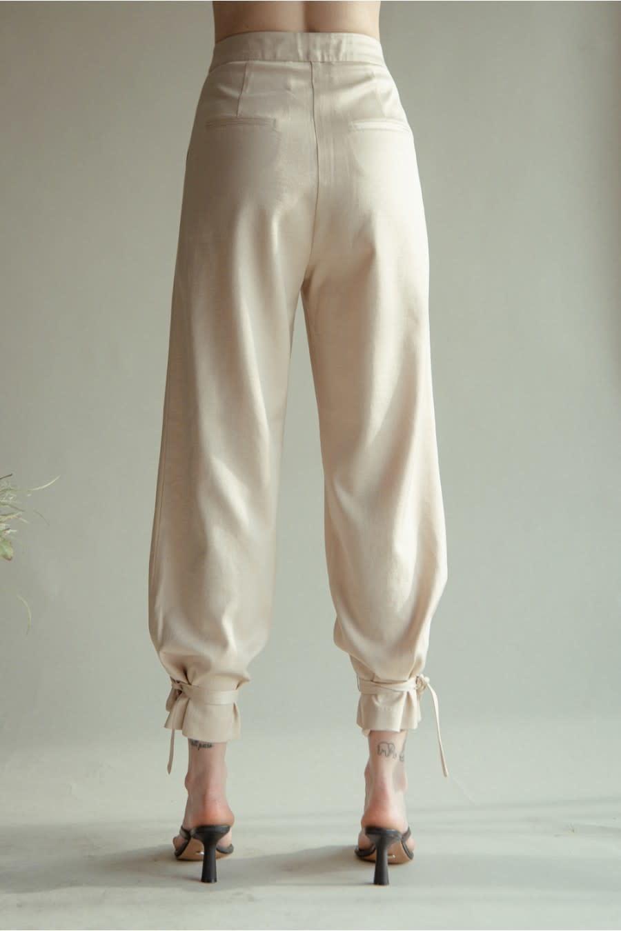 Seek The Label Satin Ankle Tie Pants