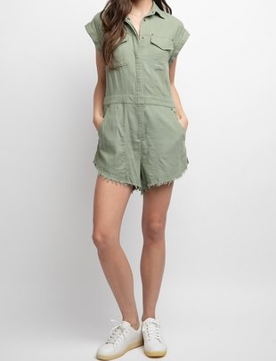 Seek The Label Safari Linen Romper