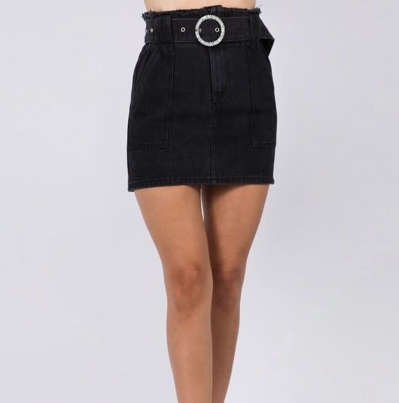 Seek The Label Lupe High Waist Denim Skirt