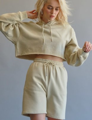 Seek The Label Knit Cropped Hoddie