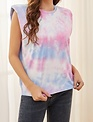 Seek The Label Tye Dye Shoulder Pad Tee