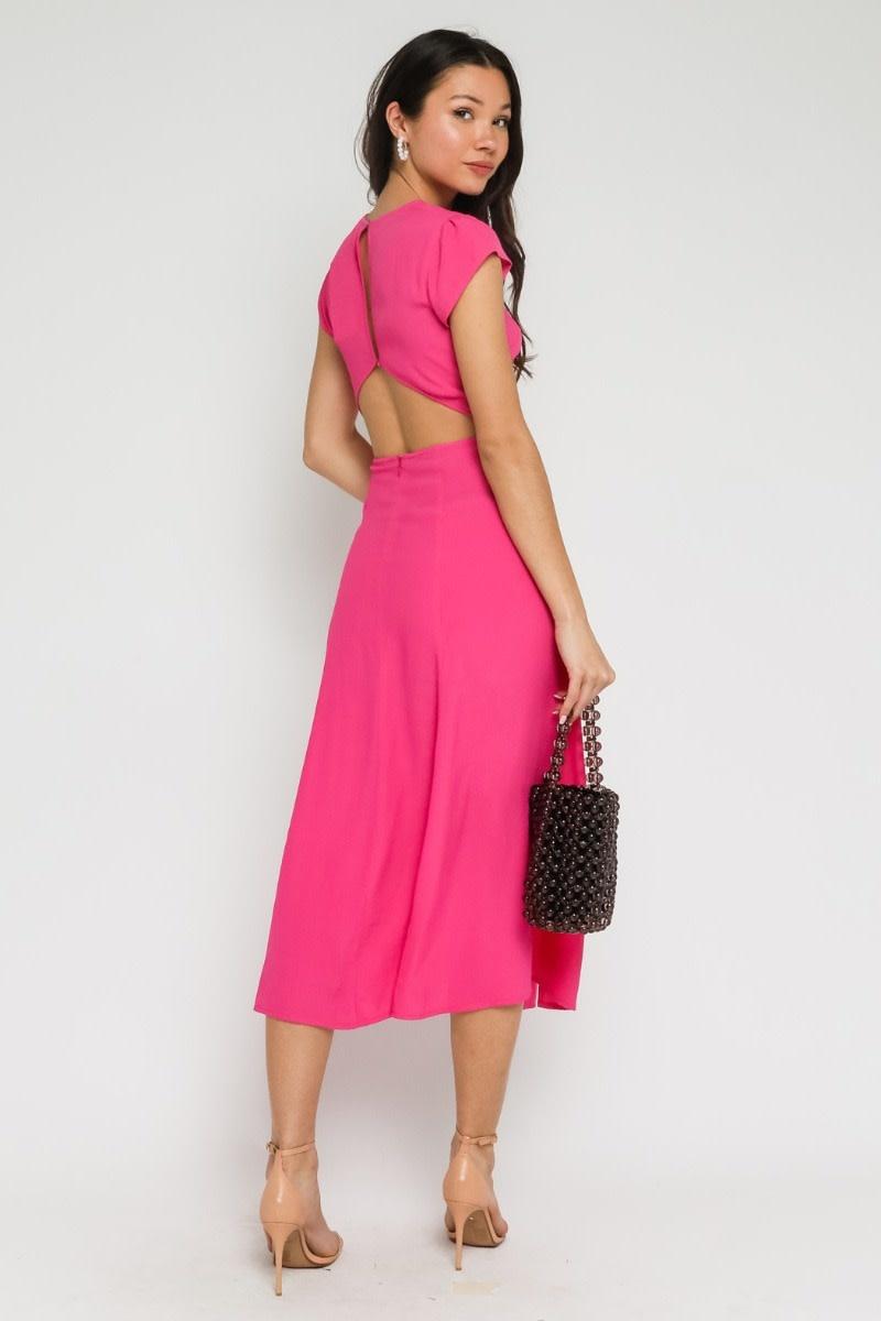 Atikshop Carlita Solid Midi Dress