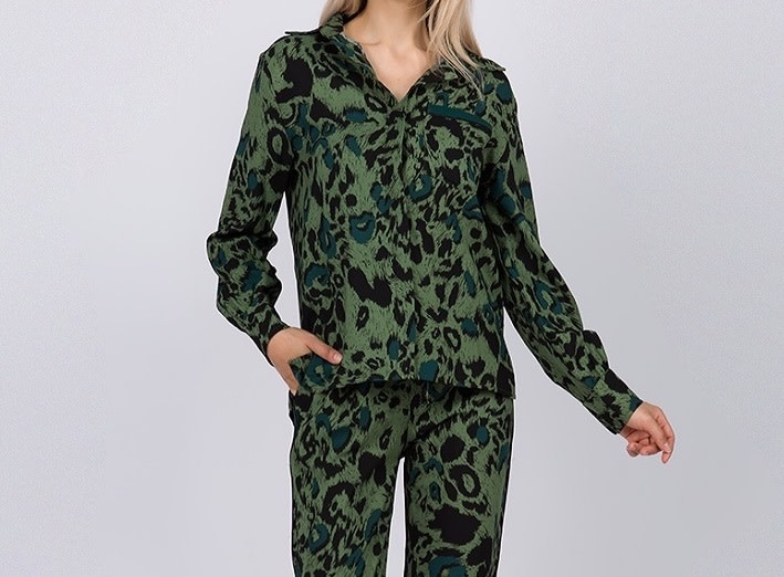 Seek The Label Leopard Print L/s Blouse