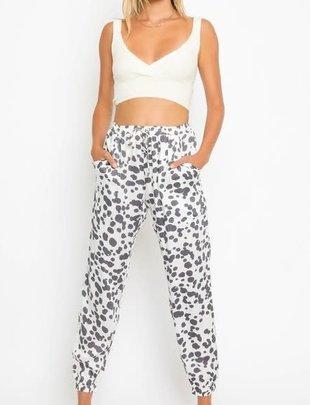 Seek The Label Splatter Dots Drawstring Pants