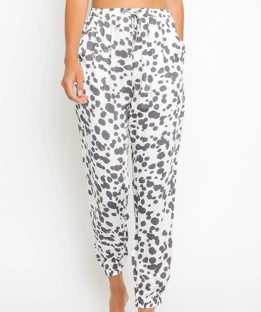 Seek The Label Splatter Dots Drawstring Pants