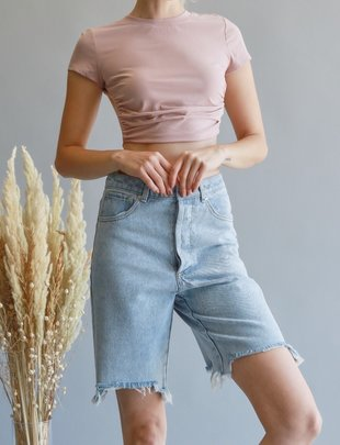 Seek The Label Cropped Open back Tee