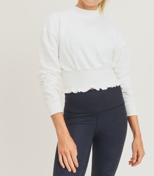 Seek The Label Cropped pullover W/Shirring