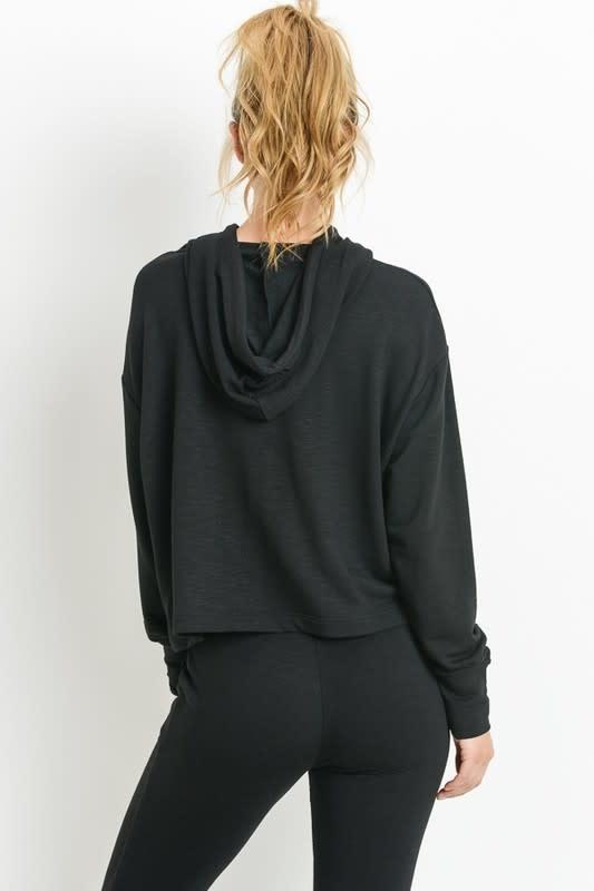 Seek The Label Knit Cropped  Hoodie