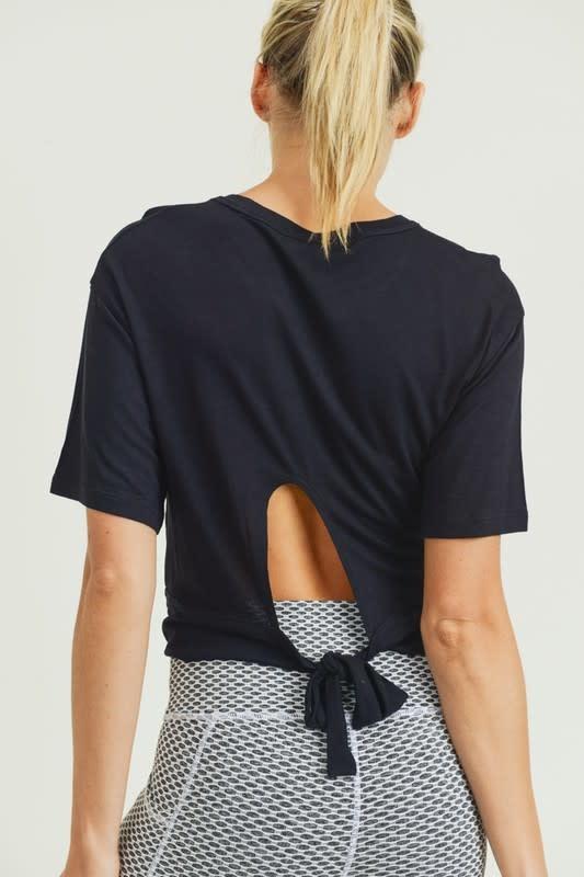 Seek The Label Tie Back Crop Top