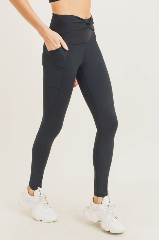 Seek The Label Ribbed Twist Accent HW Legging
