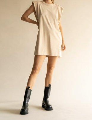 Seek The Label Shoulder Pad Muscle Dress