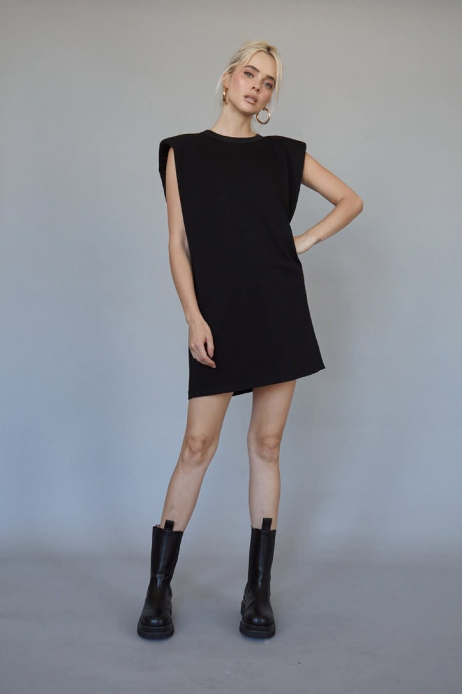 Seek The Label Shoulder Pad Muscle Dress