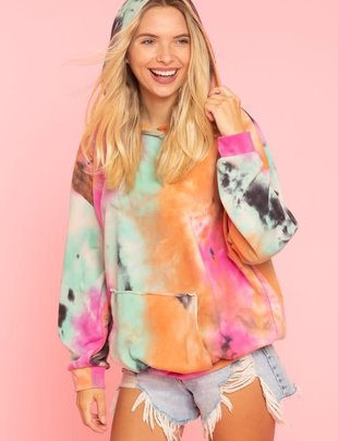 Seek The Label Tie Dye Hooded Sweatshirt