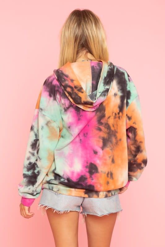 Seek The Label Tie Dye Hooded Sweatshirt