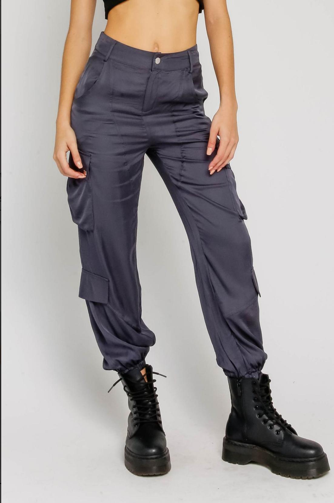 Atikshop Satin Cargo Pants
