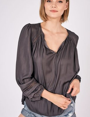 Atikshop Pilly Trim Detail Blouse