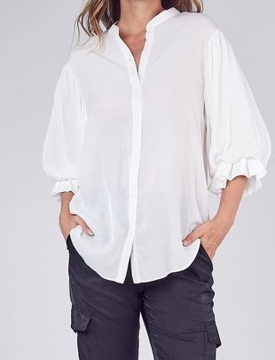 Atikshop Balloon sleeves Button Up Shirt