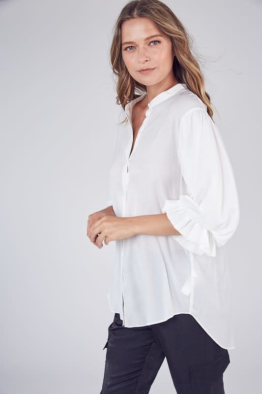 Atikshop Balloon sleeves Button Up Shirt
