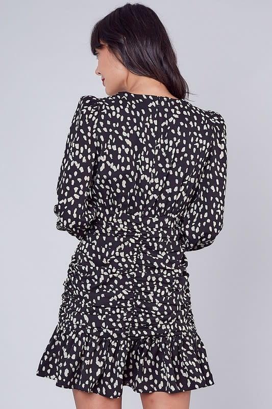 Atikshop Animal Print Ruffle Dress