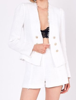 Atikshop Tweed Button Detail Jacket