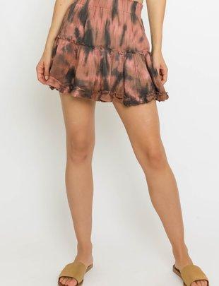 Seek The Label Tie Dye Ruffle Skirt