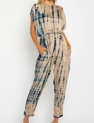 Seek The Label Satin Tie Dye Jumpsuit